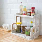 置物架廚房2層調味品罐架子家用桌面整理收納架衛生間置地落地式 果果輕時尚