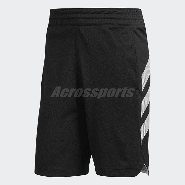 adidas 短褲 Accelerate 3-Stripes 黑 白 男款 合身版型 運動 籃球 【PUM306】 DP4782
