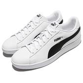 Puma 休閒鞋 Smash V2 L 白 黑 基本款 皮革 運動鞋 男鞋 女鞋【ACS】 36521501