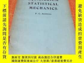 二手書博民逛書店EQUILIBRIUM罕見STATISTICAL MECHANICSY5834 F.C .ANDREWS JO