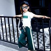 女童短袖套裝新款兒童夏裝闊腿褲夏季洋氣運動兩件套 QQ982『愛尚生活館』
