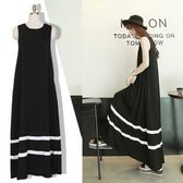 *初心*韓系 無袖 傘狀 超寬鬆裙擺 柔軟 莫代爾  D1824