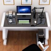 電腦桌 電腦桌台式家用帶鍵盤托辦公桌臥室簡約書桌鋼化玻璃寫字桌經濟型  ATF koko時裝店