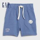 Gap 嬰兒 舒適鬆緊休閒短褲 577040-灰藍色
