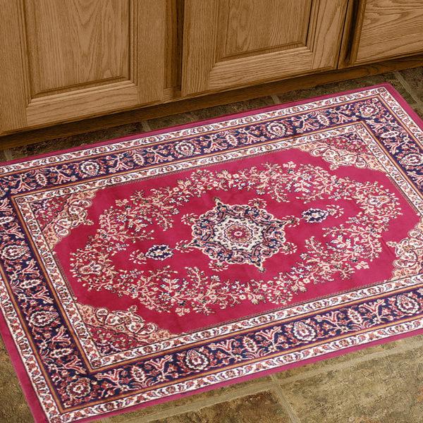 范登伯格 紅寶石輕柔絲質感地毯-踏墊-門墊-花麗-50x70cm