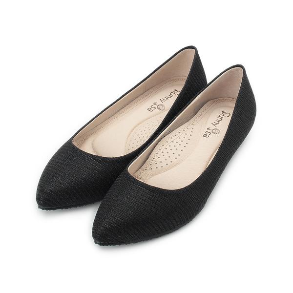 SUNNY YSA 金蔥絨面平底鞋 黑蔥 Z8985 女鞋 鞋全家福