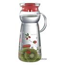 金時代書香咖啡 CafeDeTIAMO 玻璃水壺把手款950ml 紅色草莓 SGS合格  HG2291R