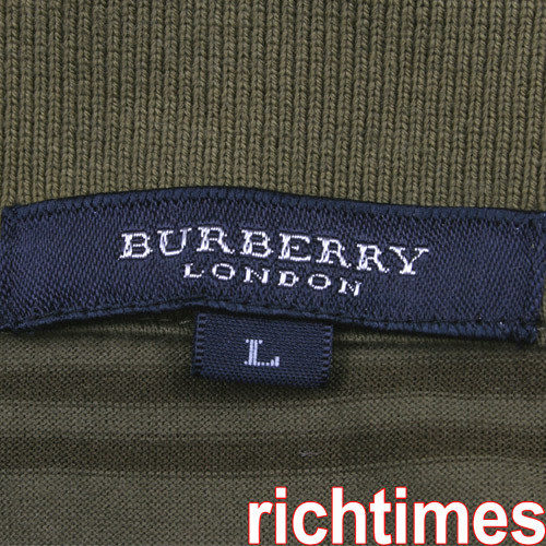 Burberry咖橄綠休閒衫BB3A0337