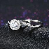 925純銀鑲鑽戒指-雙層組合式時尚高貴情人節生日禮物女飾品73kz72【時尚巴黎】