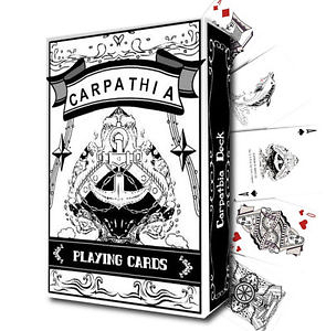 【USPCC撲克】Carpathia WHITE playing cards made by USPCC