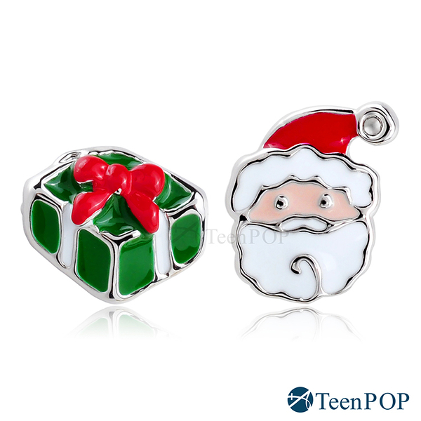 不對稱耳環 ATeenPOP 正白K 聖誕狂歡 聖誕老人 耳針式 聖誕禮物