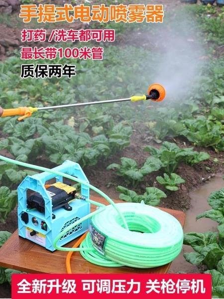 割草機 電動噴霧器手提式充電果樹打藥機抽水洗車機高壓隔膜雙泵機器【快速出貨八折搶購】
