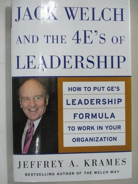 【書寶二手書T1/傳記_IY2】Jack Welch And The 4 E's Of Leadership: How To Put…