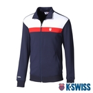 K-SWISS Shield Logo Panel Jacket運動外套-男-藍
