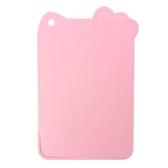 〔小禮堂〕Hello Kitty 迷你造型塑膠砧板《粉》菜砧.切菜板.銅板小物 4991203-17635