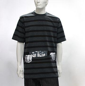 『摩達客』美國品牌【 Crown Collective 】Someone is watching you 偷窺灰色設計T 恤(1048035002)