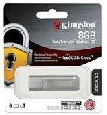 【超人生活百貨 】Kingston 金士頓 DTLPG3 Locker+ 8G 8GB 鐵灰色隨身碟DTLPG3/8GB