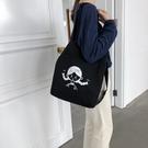 大學生上課背的包斜背手提包學生袋韓版原宿ulzzang帆布女單肩包 檸檬衣舍