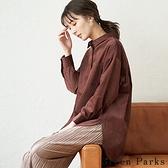 「Winter」俐落燈芯絨基本襯衫上衣 - Green Parks