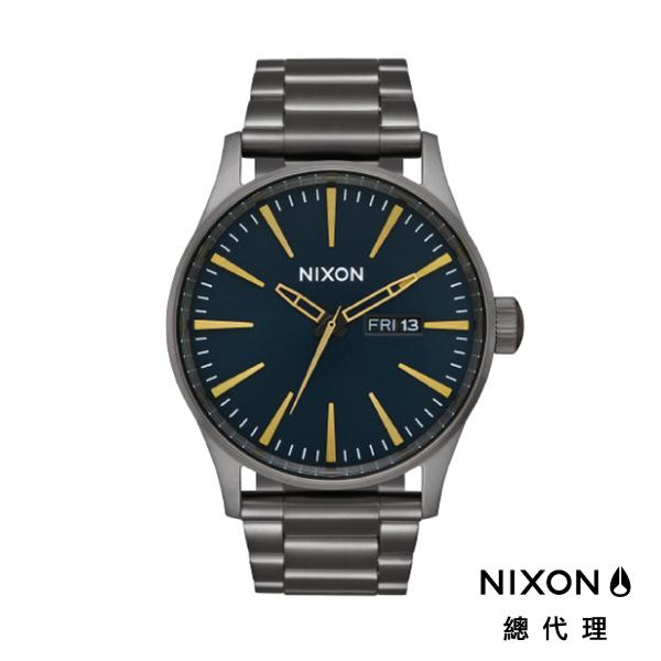 NIXON手錶 原廠總代理A356-2983 THE SENTRY SS 鐵灰 潮流時尚鋼錶帶 男女 運動 生日情人節禮物