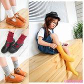 韓版純棉堆堆襪兒童襪子男女童寶寶襪中筒襪純色春秋冬季襪糖果色