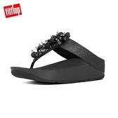 熱銷單一價!【FitFlop】經典款 立體珠飾造型夾腳涼鞋黑色