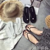 夾腳拖鞋 新款中高跟沙灘涼拖鞋女夏時尚外穿平厚底人字拖夾腳防滑坡跟 唯伊時尚