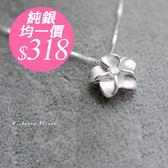 S925純銀 獨特優雅五片花項鍊-維多利亞180565