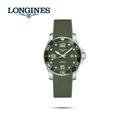LONGINES 浪琴 深海征服者l浪鬼 L37814069 陶瓷潛水機械錶-41mm綠/膠