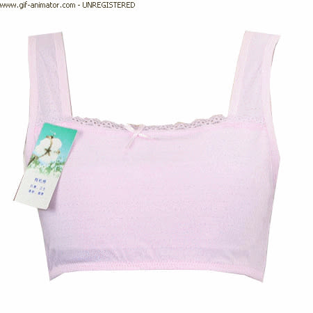 [多件優惠]  11-14歲發育期背心款無背扣有機棉素色 女童內衣 下胸圍 65~76cms 可穿