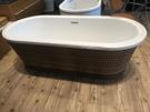 【麗室衛浴】獨特造型 英國ICI  KERAMI PVC木紋藤編獨立缸BAK-013Y 長173*寬80*高40/55cm