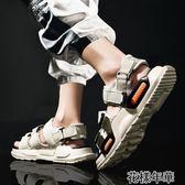 男士涼鞋夏季新款青年潮流外穿個性運動潮流韓版沙灘鞋男 花樣年華