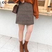 中大尺碼  加厚毛呢短裙~共三色 - 適XL~4L《 67321 》CC-GIRL