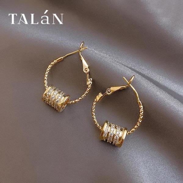 時尚小蠻腰耳環2021年新款潮925純銀針耳釘高級感輕奢耳飾女夏季 怦然新品