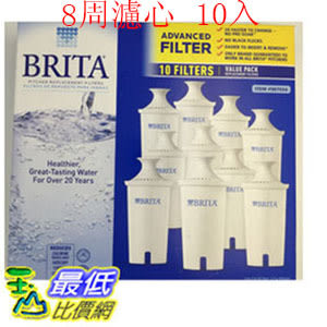 [促銷到11月30日 圓形8周濾芯] Brita 濾水壺濾心/濾芯 (10入) (和舊款相容可過濾151公升)