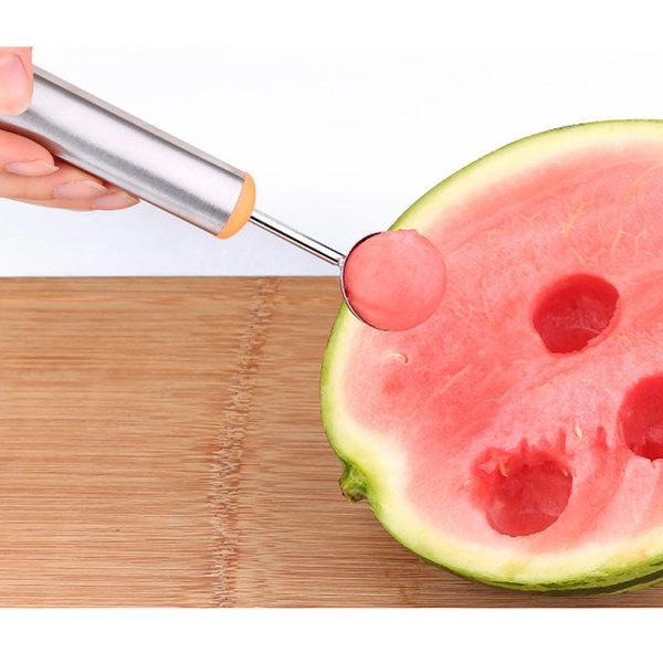 PUSH!廚房用品水果雕花刀挖果肉器果肉分離器切水果刀西瓜勺套裝D67