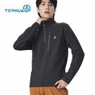 TERNUA 男咖啡紗半門襟保暖中層衣1206868 AF ( 登山 露營 旅遊健行)