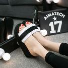 潮流時尚拖鞋女夏厚底一字拖女室內防滑坡跟涼拖松糕底高跟沙灘鞋 LI2539『時尚玩家』