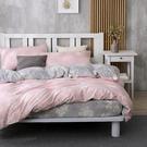 床包被套組 四件式雙人兩用被加大床包組/昆蒂娜粉/美國棉授權品牌[鴻宇]台灣製2079