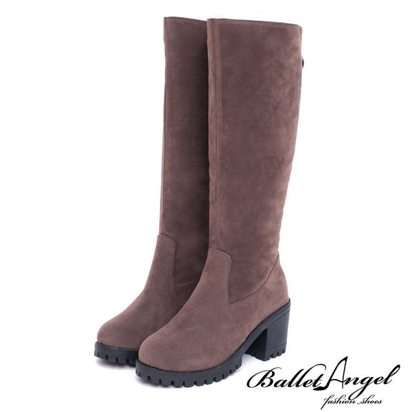 長靴 優雅迷人綴飾拉鍊高跟長靴(棕) *BalletAngel【18-1786br】【現貨】