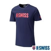【超取】K-SWISS Contrast Logo Tee棉質吸排T恤-男-藍