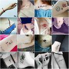 紋身貼紙紋身貼男女防潑水持久個性英文小清...