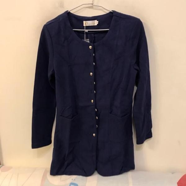 韓版顯瘦修身基本款針織外套(L號/222-5283)