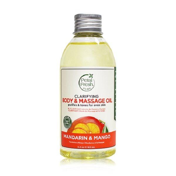 【美國 沛特斯】有機植萃柑橘芒果保濕按摩油-5.5oz