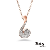 蘇菲亞SOPHIA - 心弦玫瑰金鑽石項鍊