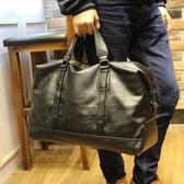 手提包男大容量皮質旅行包健身包運動單肩斜跨包男士行李背包新款 壹電