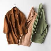 毛呢大衣-羊毛優雅寬鬆簡約設計女外套3色73op9[巴黎精品]