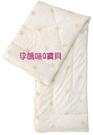 台灣奇哥小羊毛嬰兒被胎/內胎小羊毛/表布100%純棉~105X135CM超輕超保暖