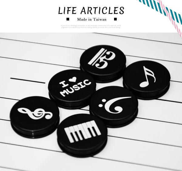 【小麥老師 樂器館】磁鐵 (6入) 台灣製【A768】TP1960A 音符造型 不透明黑色磁鐵