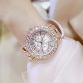 新款熱銷手錶高檔鏈錶銀色方鑽水鑽滿鑽錶《小師妹》yw70